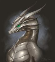 Platinum dragon by The-SixthLeafClover