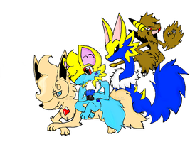 Terra And Her Buddies! by Kyrifian