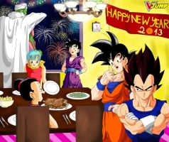 Dragon ball - New year 2013 by songohanart