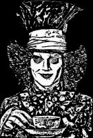 Johnny Depp as The Mad Hatter. by ladyjart