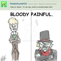 AMC: Shadowhunter625 asks Jekyll and Hyde... by Groovy-Gecko