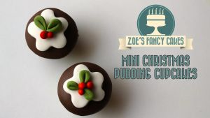 Christmas Mini Cupcake Puddings video tutorial by zoesfancycakes