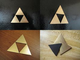 Brass Triforce Magnet Set by Sarinilli