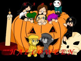HAPPY HALLOWEEN BROS!!! :D by judy2468