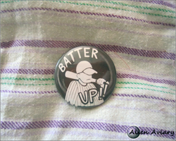 The Batter (OFF) Pin by alienaviary
