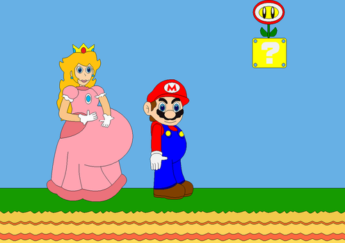 Mario and Peach by Bowser14456