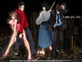Lupin III - Japanese Nightlife by Katsuhicon