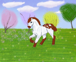 Rose in the feild by QuirkyDoodle