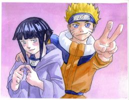 Naruto and Hinata 'Colored' by OceanSama