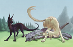 Collab: Just the three of us by LabradoriteWolf