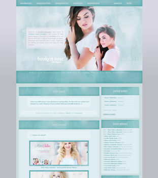 Lucy Hale WordPress Theme by xBrokenRose