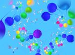 Birds and balloons by Astrantia01