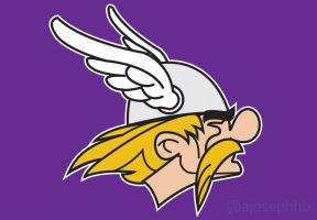 Minnesota Vikings VS Asterix by ajosephhb