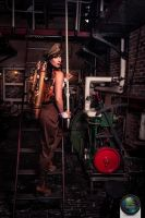Steampunk officer @ steam pumping station by Firefly182