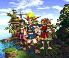 Jak 1 Keira and Daxter in Sandover Village by 9029561