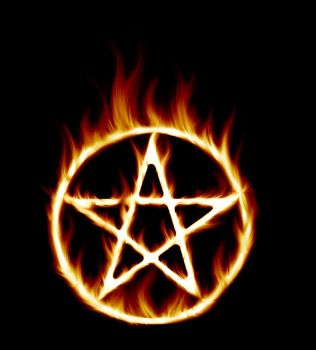 006 Flame Pentagram 01 by Tigers-stock