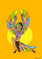 Bird-Tribe-Woman-Thing by BlackTiger2906