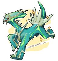Wild Shiny Dialga Appeared by Twarda8