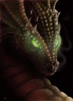 Green Eyed Dragon by Jared1481