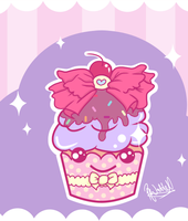 -: Yummy Sparkle Cupcake :- by Cherry-Fizzle