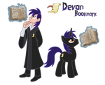 Commission: Devon Bookmark (Pony/ Human) by Trinityinyang