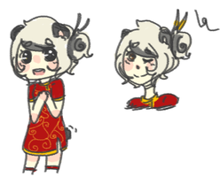 Panda girl adopt CLOSED by hanecco