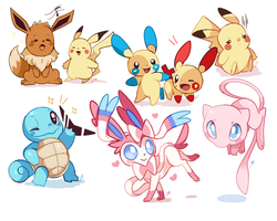 Pokemon Doodles #3 by Ipun