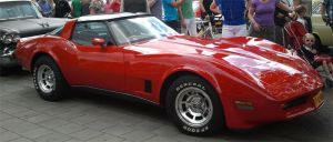 Red Corvette by JanuaryGuest