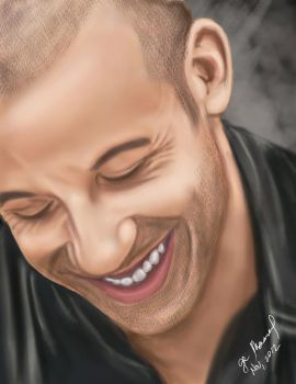 Vin Diesel Digital Painting by Gege4U