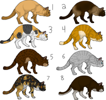 Domestic Cat Adoptables by Speckledleaf