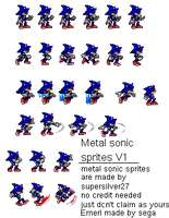 metal sonic sprites V1 by supersilver27