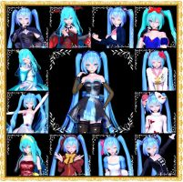 MMD TDA:The evolution of my creations by AmaneHatsura