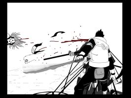 line art of Asuma vs Hidan. by mD2