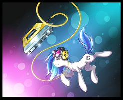 Lost in Music - Vinyl Scratch by RomanRazor