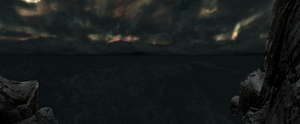 Skyrim panorama night by LAWLitsAARON