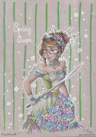 AK2015 gift - Spring Queen by Kitty-Cross
