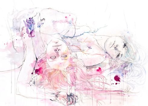each growing petal is an internal wound by agnes-cecile