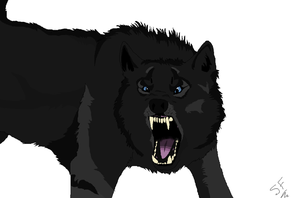 Snarling wolf by ottercrazyweirdo