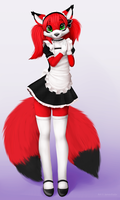 Cute Maid by jamesfoxbr