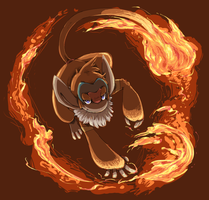 pokeddexy 07 fire - monferno by Peegeray