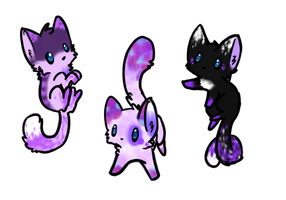 Purple Kitty Adoptables (CLOSED) by Doom-Duck