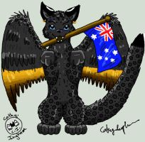 Catwing-Meme-Aussie-Flag by Catbirdwoman