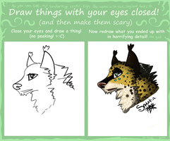 Draw things with your eyes closed! meme by Satuka