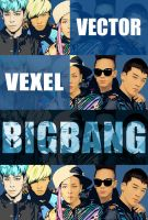 Big Bang Vector x Vexel mini Poster by maddaluther