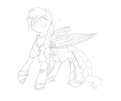 Steampunk CloudNine -sketched- by ManeRibbons