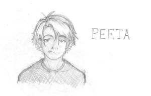 Peeta Sketch by TheMuzbo