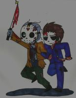Jason Voorhees and Michael Myers Best friends! by That-Love-Voodoo