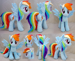 Rainbow Dash Plushie V2 by lazyperson202