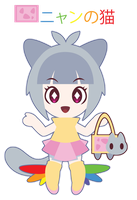 Nyan Cat Gijinka for FoxyTime ::GIFT:: by Itachi-Roxas