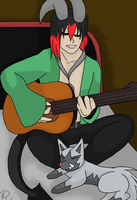 PI: Playing the Guitar by SnowAngelRika